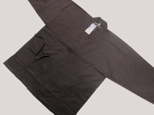 作務衣 綿100% こげ茶 Mサイズ 日本製 受注生産品 新作続 送料無料 在庫限り