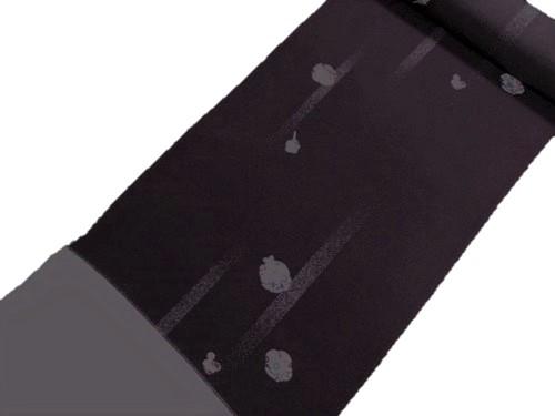 小紋反物【正絹】【濃紫】【小花】【絹100%】【未仕立て】【送料無料】