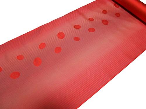 雨コート反物 いよいよ人気ブランド 正絹 撥水加工済み オレンジ 蛇の目傘柄 全品送料無料 在庫処分品 西陣 日本製 未仕立て