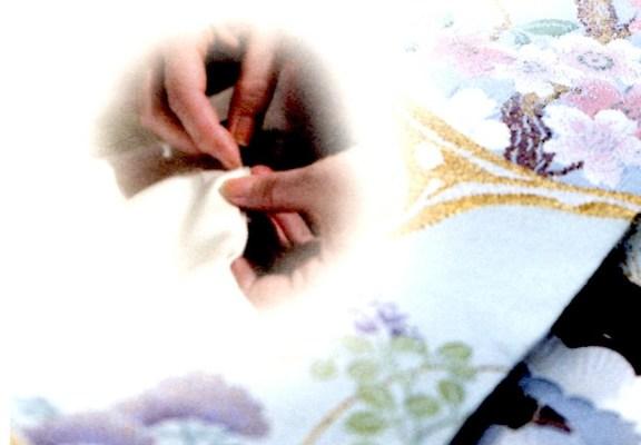 国内手縫い仕立(訪問着単衣紋無し仕立・正絹裏衿・解き湯のし付き)