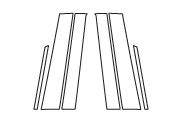 ハセプロ マジカルカーボン ピラースタンダードセット ノーマルタイプ ホンダ フリードGB3/4 2008.5~/フリードスパイクGB3/4 2010.7~(CPH-46)