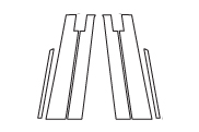 ハセプロ マジカルカーボン ピラースタンダードセット バイザーカットタイプ ホンダ フリードGB3/4 2008.5~/フリードスパイクGB3/4 2010.7~(CPH-V46)