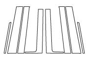 【6/5はポイント最大23倍!】ハセプロ マジカルカーボン ピラーフルセット ノーマルタイプ ホンダ フリードGB3/4 2008.5~/フリードスパイクGB3/4 2010.7~(CPH-F46)