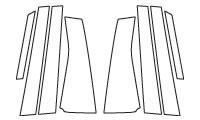 ハセプロ マジカルカーボン ピラーセット ノーマルタイプ トヨタ ウィッシュ ZGE20系 2009.4~(CPT-60)