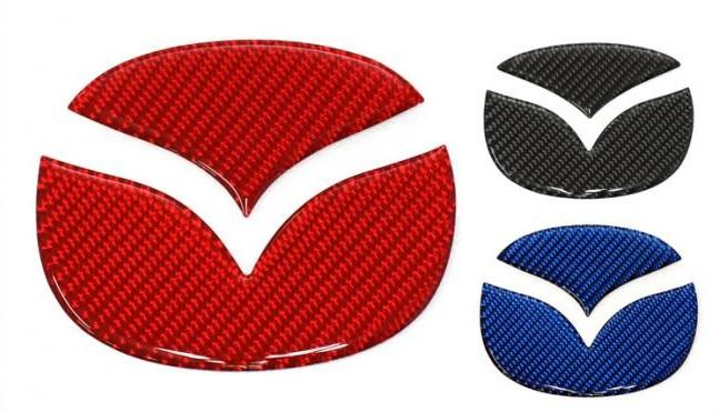 MAZDA リア エンブレム 本店 CX-30 デミオ アクセラセダン マジカルカーボンNEO アクセラハイブリッド マツダ NEM-4 ハセプロ 再再販 フロント