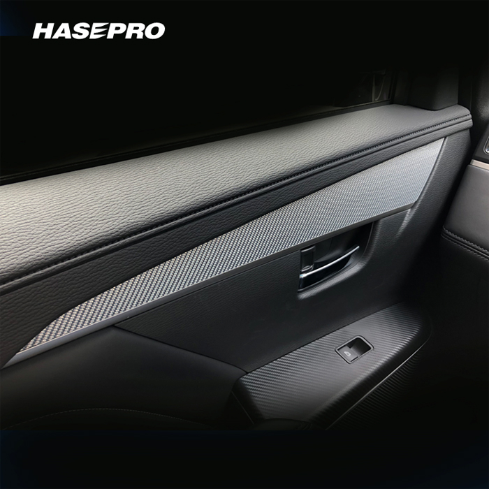 ハセプロ 三菱 デリカD5(MC後ディーゼル) CV1W 専用カット/マジカルカーボン ドアパネルガーニッシュ