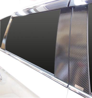 ハセプロ マジカルカーボン ピラースタンダードセット バイザーカットタイプ ミツビシ アウトランダー GF7W/GF8W 2012.10~/アウトランダーPHEV GG2W 2013.1~(CPM-V65)
