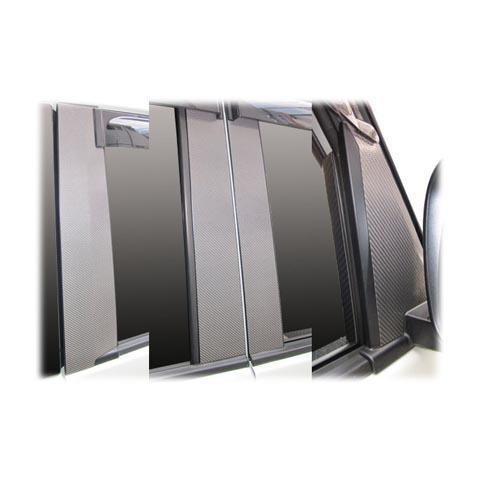 ハセプロ マジカルカーボン ピラーフルセット バイザーカットタイプ スズキ パレット/パレットSW MK21S(CPSZ-VF8)