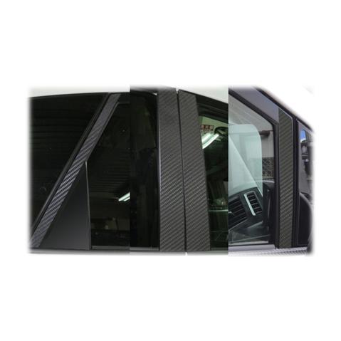 【5/20はポイント最大14倍】ハセプロ マジカルカーボン ピラーセット バイザーカットタイプ トヨタ プリウスアルファ ZVW40W/41W 2011.5~(CPT-V68)