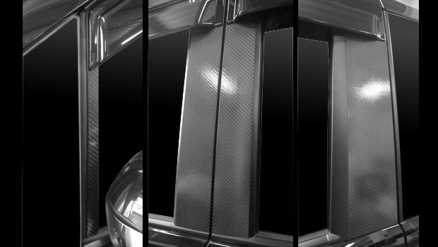 【5日は独自ポイント10倍】ハセプロ マジカルカーボン ピラーセット バイザーカットタイプ ホンダ ステップワゴンRK1/2/ステップワゴンスパーダRK5/6 2009.10~(CPH-V49)