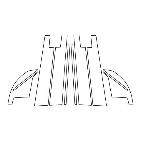 【6/5はポイント最大23倍!】ハセプロ《マジカルカーボン》ピラーフルセット バイザーカットタイプ ダイハツ ロッキー A200系 2019.11~