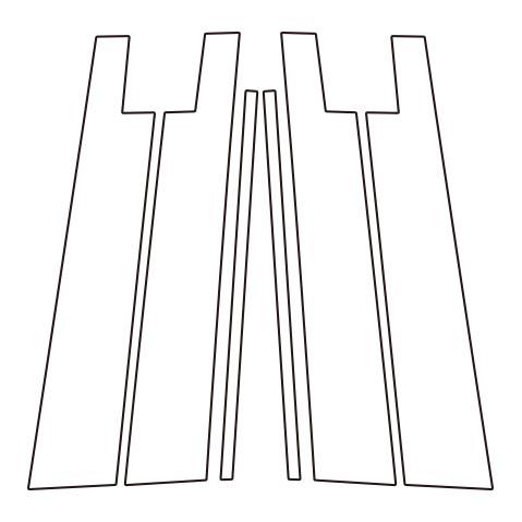 【6/5はポイント最大23倍!】ハセプロ《マジカルカーボン》ピラースタンダードセット バイザーカットタイプ トヨタ ライズ A200系 2019.11~