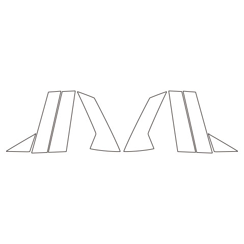 【6/5はポイント最大23倍!】ハセプロ《マジカルアートシートNEO》ピラー マツダ CX-30 DM系 2019.10~(MSN-PMA35)