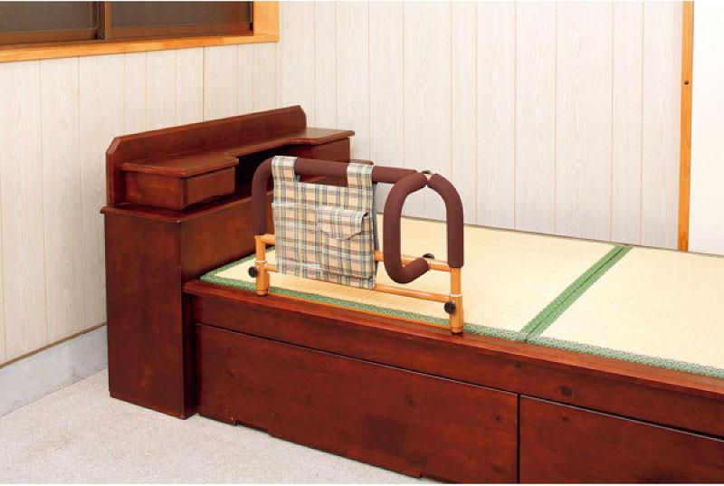 介護 ベッド ガード ささえ 畳ベッド用ワイド 吉野商会 寝具 手すり 立ち上がり 療養ベッドに※北海道・沖縄・離島は送料無料対象外