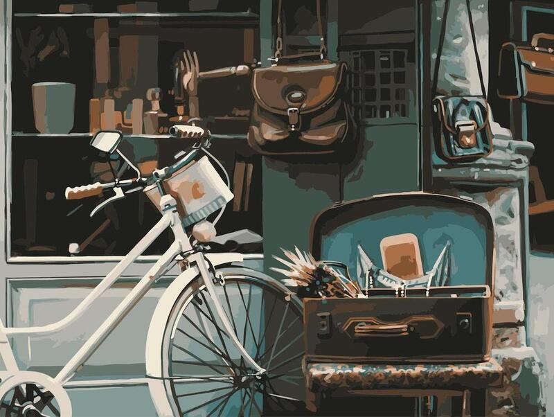 おうちでできる新しい趣味 敬老の日 ギフト 手作りのレトロな絵画が アクリル絵具のぬりえで簡単に完成します おしゃれな1000ピースパズルをやっているような感覚 お家時間 工作 男性にも人気 数字 油絵 大人の塗り絵 油絵塗り絵 数字で塗り絵 フレーム有無選べる ロール梱包 Roman 趣味 休み 30x40cm イタリア 風景 bicycle おしゃれ 番号 自転車 街角 期間限定送料無料 アンティーク 塗り絵 ローマ ヨーロッパ 絵画 インテリア アートパネル