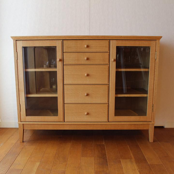 【送料無料】無垢のリビングボード サイドボード リビング収納(受注製作の無垢家具)