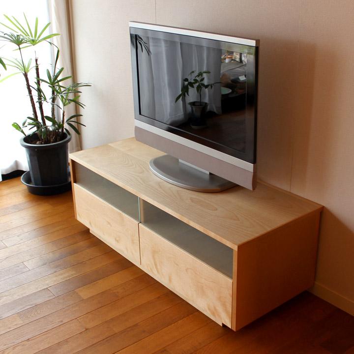 【送料無料】無垢のTVボード(小型) CD・DVD収納 テレビ台 AV台(受注製作の無垢家具)