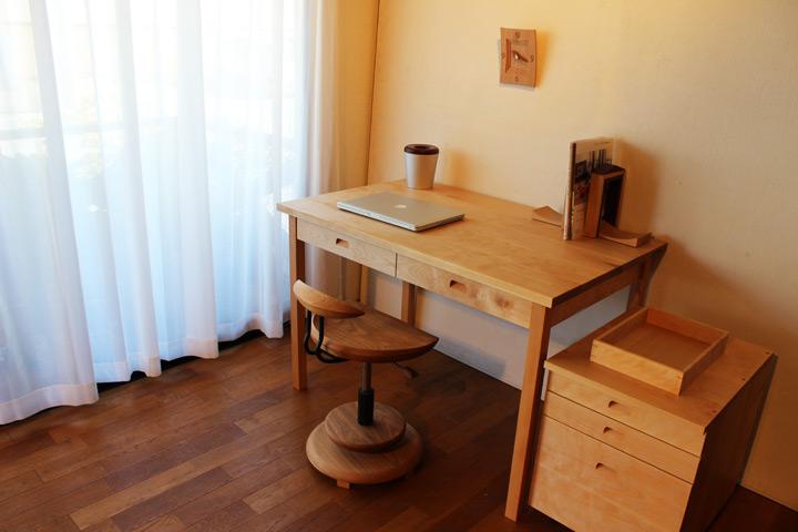 無垢 デスク & ダイニングテーブル(受注生産のオーダー家具)無垢テーブル【送料無料】