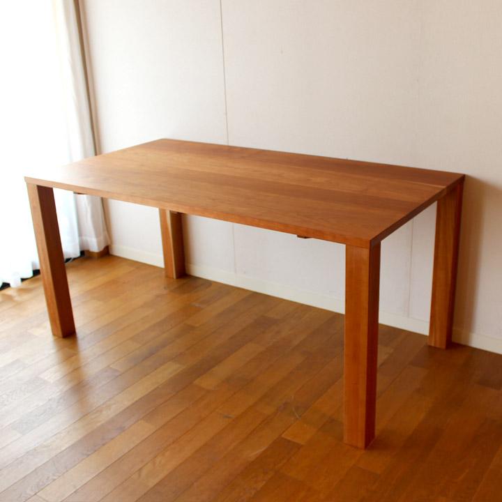 【送料無料】チェリー無垢のサイズオーダーメイド ダイニングテーブル(受注生産のオーダー家具)