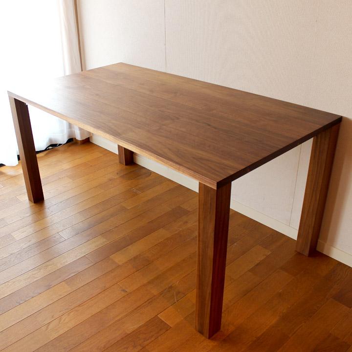 【送料無料】ウォールナット無垢のサイズオーダーメイド ダイニングテーブル(受注生産のオーダー家具)