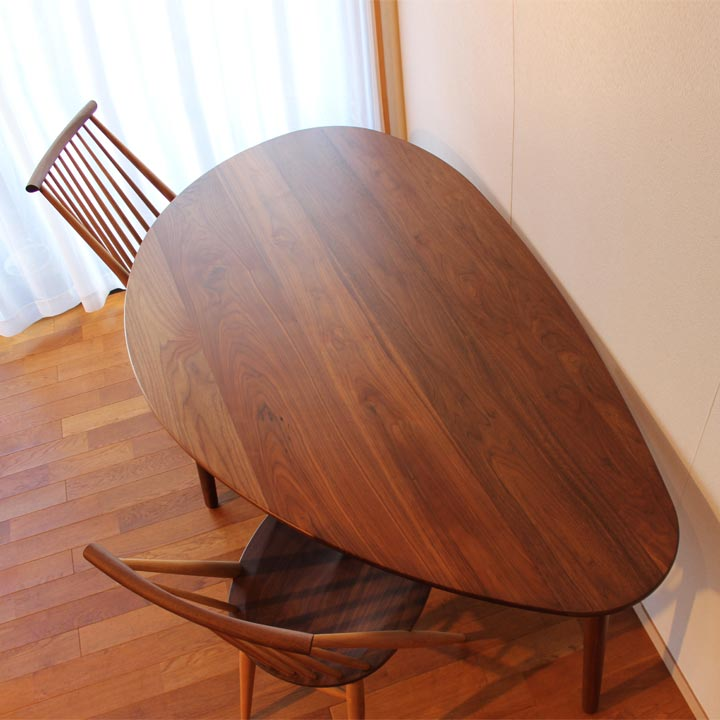 【送料無料】おむすびテーブル 5人掛け(受注生産のオーダー家具)