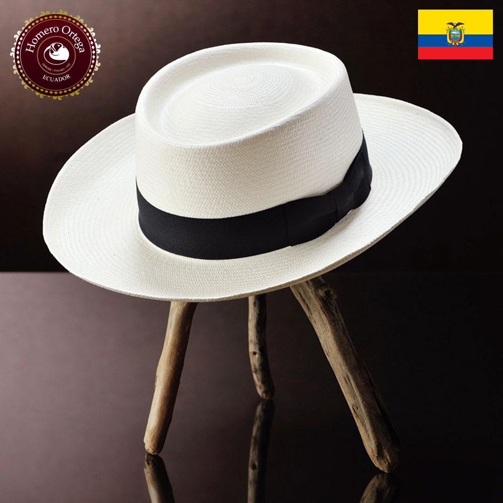 パナマハット 男性 女性 パナマ帽 ストローハット ポークパイハット S M L XL ホワイト パナマ帽子 メンズハット 紳士帽 ハット 帽子 エクアドル 大きいサイズ あす楽 プレゼント Homero Ortega ゴルフ 送料無料