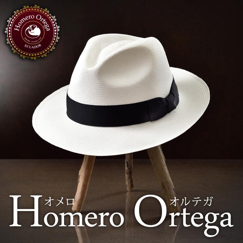 パナマハット パナマ帽子 メンズ レディース 中折れ 帽子 ハット 紳士帽 フェドラ エクアドル 大きいサイズ 白 ホワイト S M L XL あす楽 プレゼント HomeroOrtega オメロオルテガ カバジェロ 送料無料