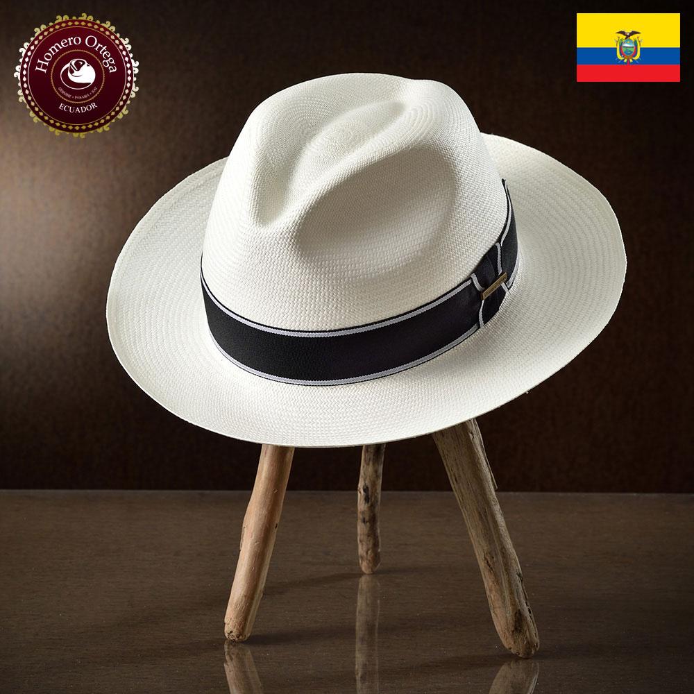 パナマハット メンズ レディース パナマ帽 ホワイト ストローハット 中折れハット 帽子 パナマ帽子 メンズハット 紳士帽 エクアドル 大きいサイズ S M L XL あす楽 プレゼント HomeroOrtega オメロオルテガ ブエノ 送料無料