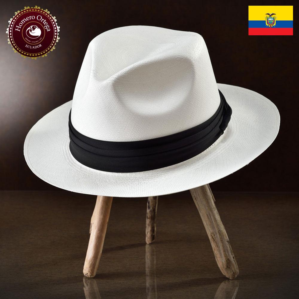 パナマ帽 メンズ レディース パナマハット 本パナマ 中折れ帽 S M L XL ホワイト パナマ帽子 紳士帽 メンズハット 帽子 ハット エクアドル 大きいサイズ あす楽 プレゼント Homero Ortega ジャパン 送料無料