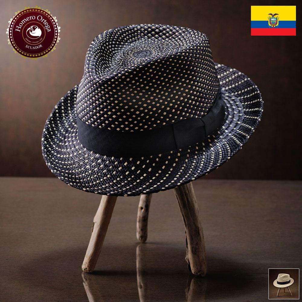 パナマハット 男性 女性 パナマ帽 本パナマ 中折れ帽 S M L XL ブラック パナマ帽子 メンズハット 紳士帽 ハット 帽子 エクアドル 大きいサイズ あす楽 プレゼント オメロオルテガ エストレヤ 送料無料