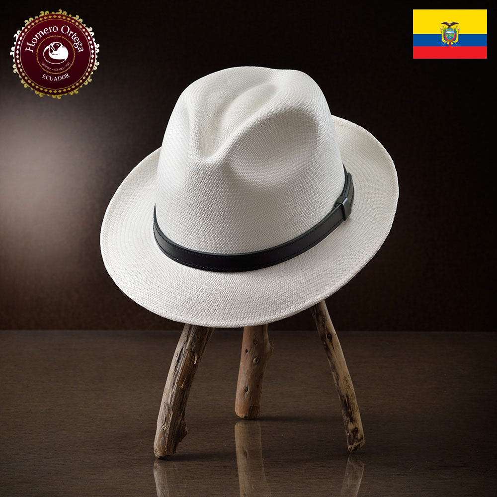パナマ帽 メンズ レディース パナマハット ストローハット 中折れハット S M L XL ホワイト パナマ帽子 紳士帽 メンズハット 帽子 ハット エクアドル 大きいサイズ あす楽 プレゼント Homero Ortega クレスタ2C 送料無料