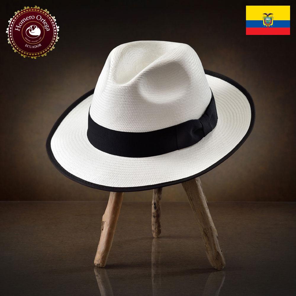 パナマハット メンズ レディース パナマ帽子 中折れハット 帽子 春夏 ホワイト メンズハット 紳士帽 エクアドル 大きいサイズ S M L XL あす楽 プレゼント HomeroOrtega オメロオルテガ エッジ 送料無料