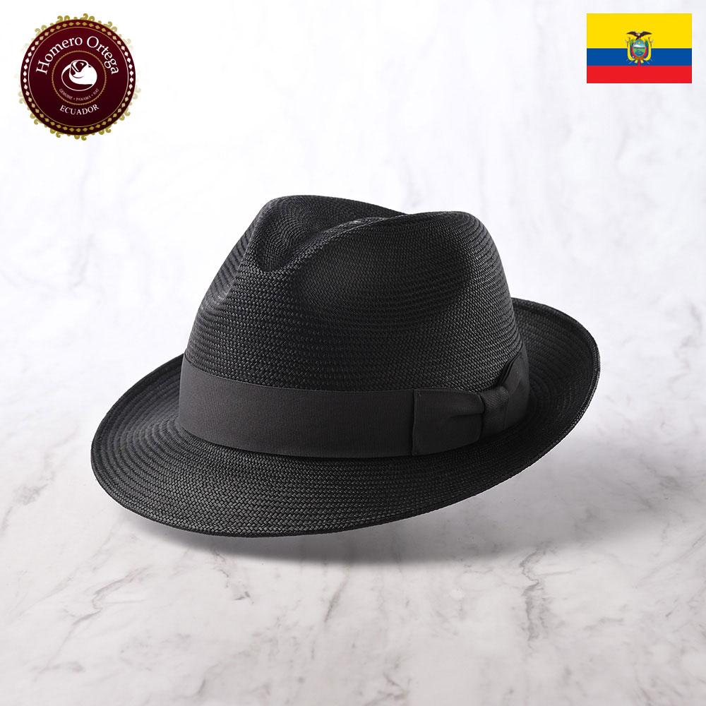パナマ帽 メンズ レディース パナマハット ストローハット 中折れ帽 S M L XL ブラック パナマ帽子 紳士帽 メンズハット 帽子 ハット エクアドル 大きいサイズ あす楽 プレゼント Homero Ortega ブリロ
