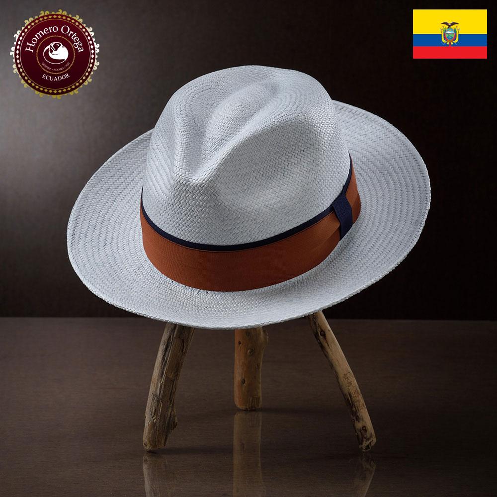 パナマ帽子 メンズ レディース パナマハット ストローハット 中折れハット 帽子 春夏 紳士帽 エクアドル 大きいサイズ S M L XL ライトブルー あす楽 プレゼント Homero Ortega オメロオルテガ ソレアード 送料無料