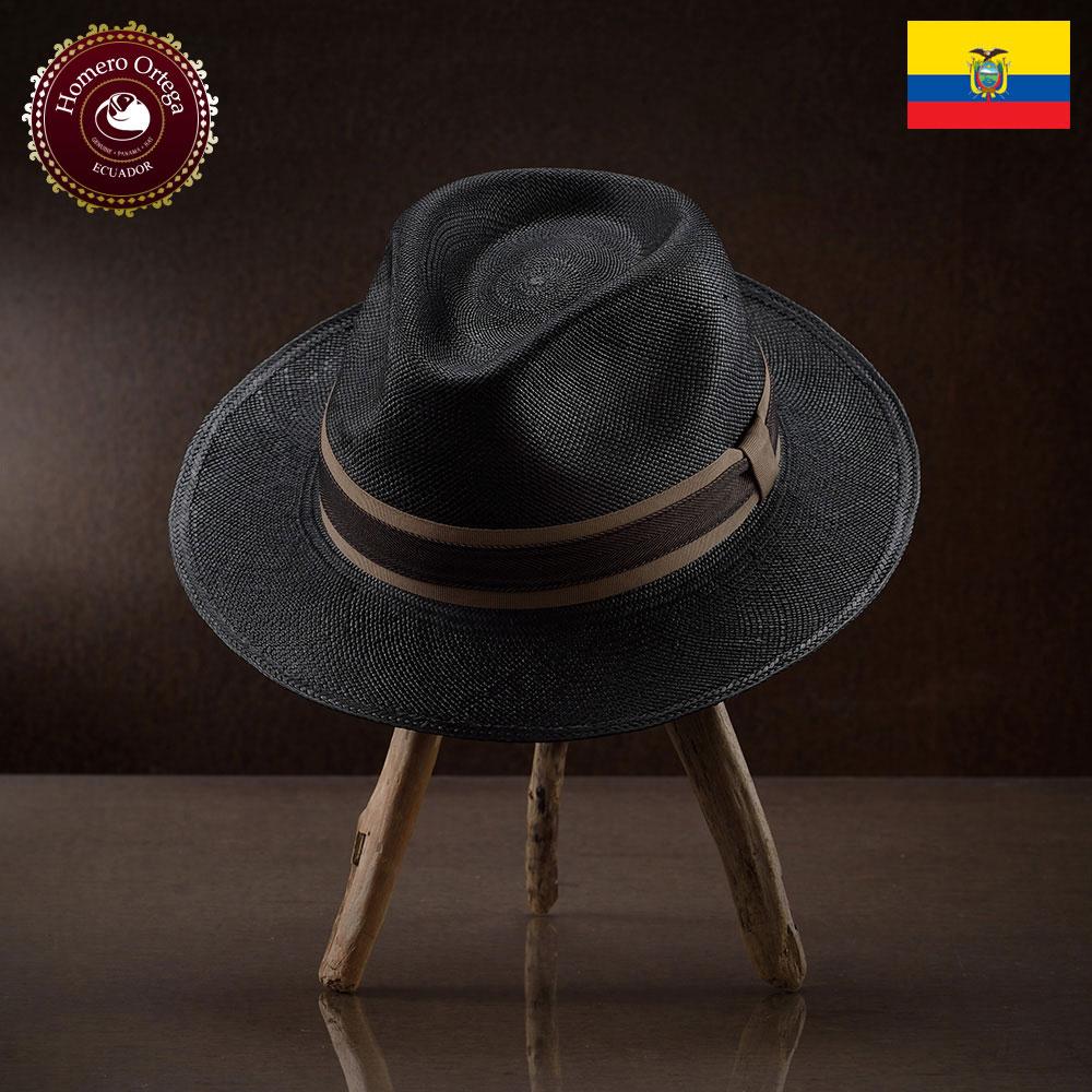 パナマハット 男性 女性 パナマ帽 本パナマ 中折れハット S M L XL ブラック パナマ帽子 メンズハット 紳士帽 ハット 帽子 エクアドル 大きいサイズ あす楽 プレゼント オメロオルテガ シガーロ 送料無料