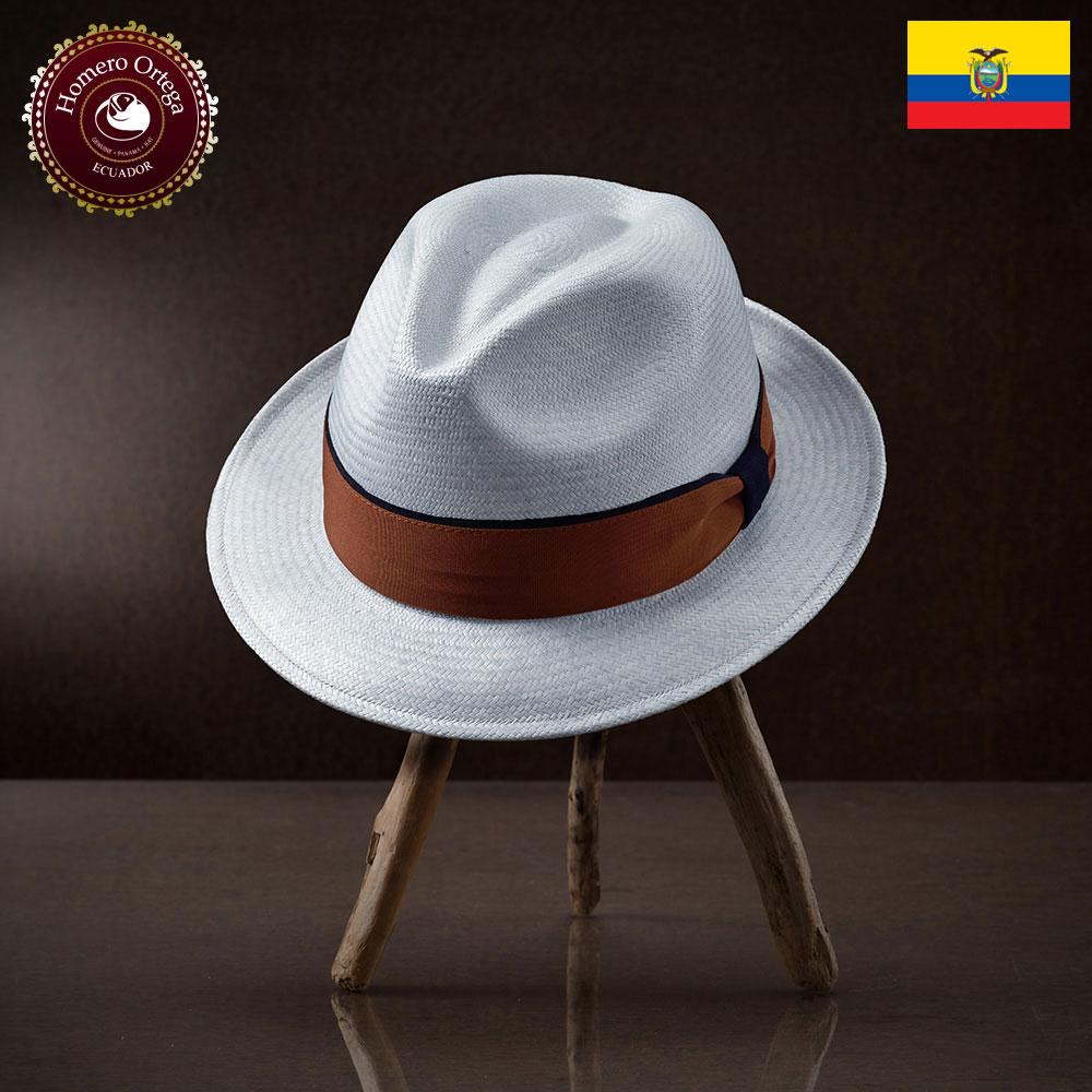 パナマ帽 メンズ レディース パナマハット 本パナマ 中折れ帽 ライトブルー パナマ帽子 紳士帽 メンズハット 帽子 ハット エクアドル 大きいサイズ プレゼント S M L XL HomeroOrtega アロージョ 送料無料 あす楽
