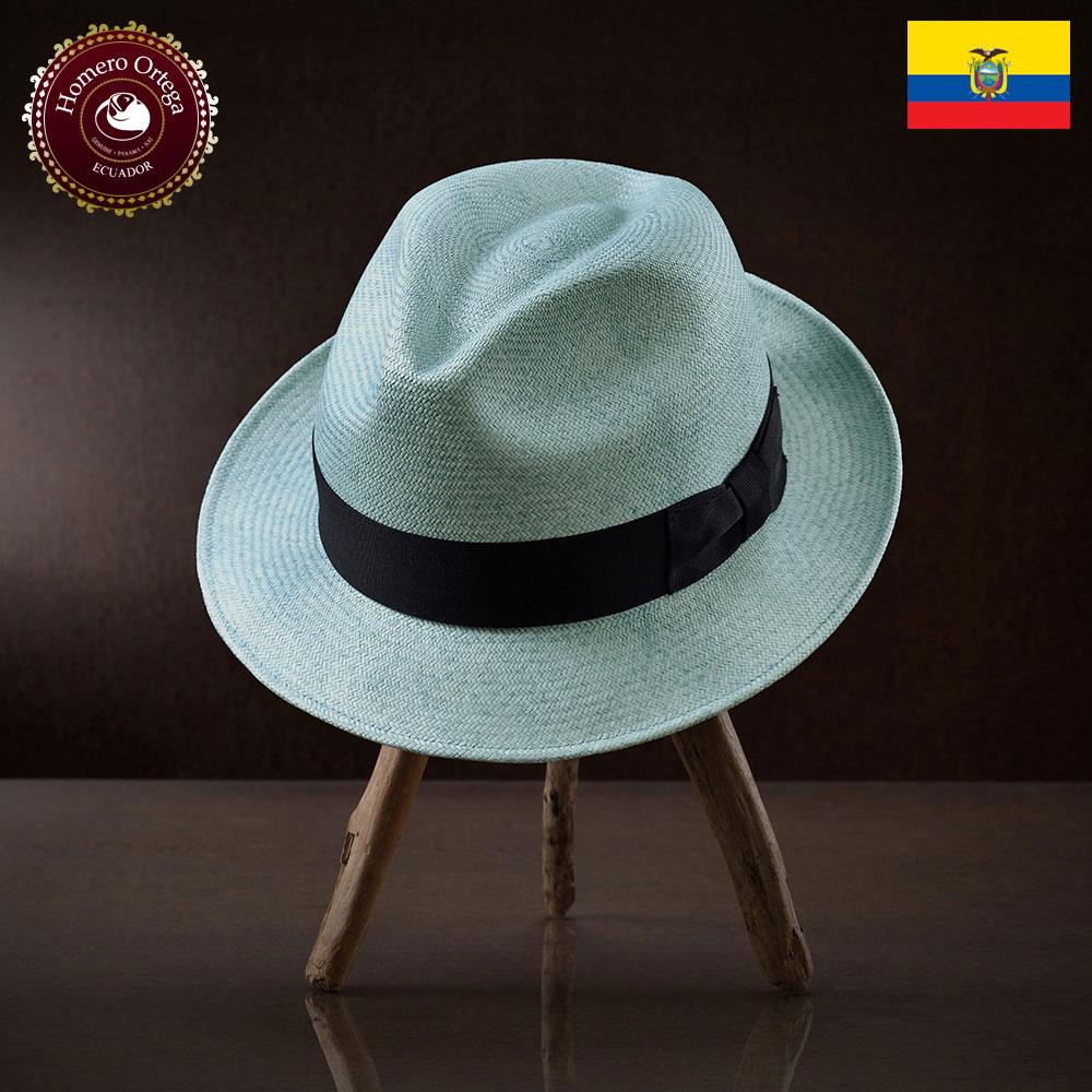 パナマ帽 メンズ レディース パナマハット 本パナマ 中折れ帽 S M L XL ミントブルー パナマ帽子 紳士帽 メンズハット 帽子 ハット エクアドル 大きいサイズ あす楽 プレゼント Homero Ortega ノベーラ 送料無料