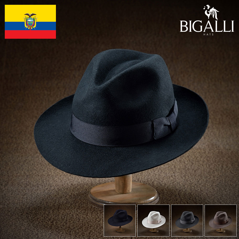 Elegant Gentlemans Traditional Felt Trilby Hat Black, 56cm