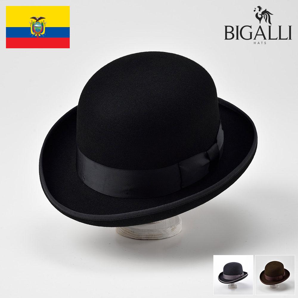 ボーラーハット メンズ レディース フェルトハット ハット 帽子 フェルト帽 紳士 秋冬 大きいサイズ フォーマル 紳士帽 メンズ帽子 ギフト プレゼント 送料無料 あす楽 S M L XL BIGALLI [ボウラーフリー]