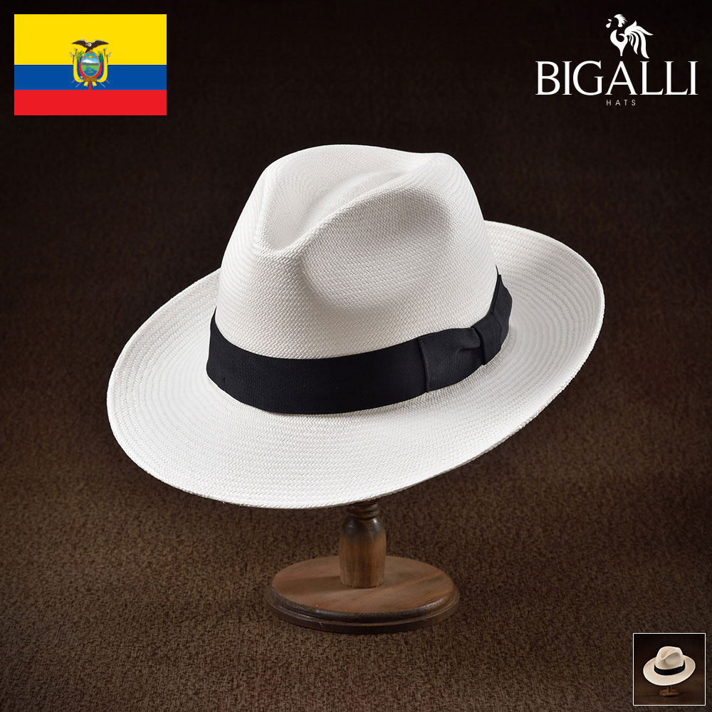 パナマハット パナマ帽 BIGALLI ビガリ ESTRENO エストレーノ メンズ レディース 男性 女性 帽子 ハット エクアドル製 本パナマ草 トキヤ草 手編み ストローハット 麦わら帽子 大きいサイズ 父の日 ギフト あす楽
