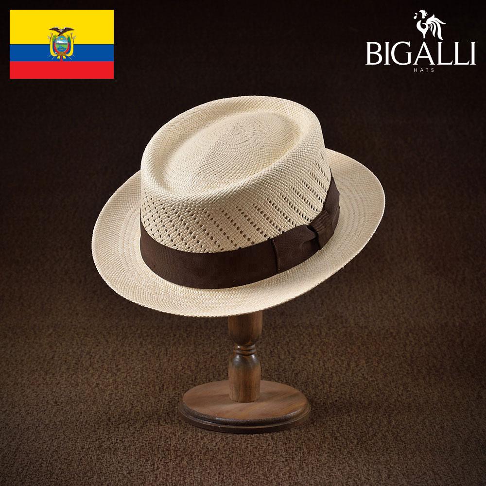 パナマハット パナマ帽 メンズ レディース ポークパイ ハット 帽子 紳士 春 夏 春夏 大きいサイズ S M L XL XXL エクアドル製 BIGALLI [カジノFC] 紳士帽 メンズ帽子 ギフト プレゼント あす楽 送料無料