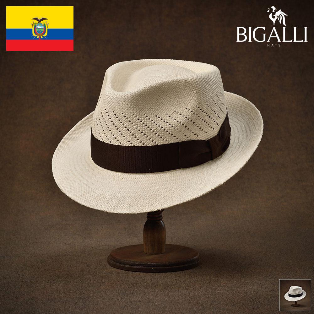 ハット メンズ レディース パナマハット パナマ帽 中折れ帽子 フェドラ 帽子 紳士 春 夏 春夏 大きいサイズ S M L XL XXL エクアドル製 BIGALLI [パンタージャFC] 紳士帽 メンズ帽子 ギフト プレゼント あす楽 送料無料