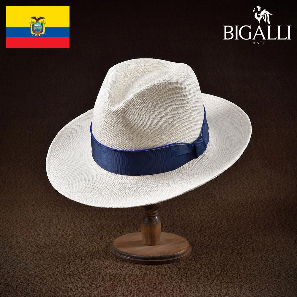 メンズ パナマハット パナマ帽 中折れ帽子 フェドラハット 帽子 レディース 紳士 春夏 大きいサイズ 紳士帽 メンズ帽子 ギフト プレゼント 送料無料 あす楽 S M L XL エクアドル製 BIGALLI [バレンシア]
