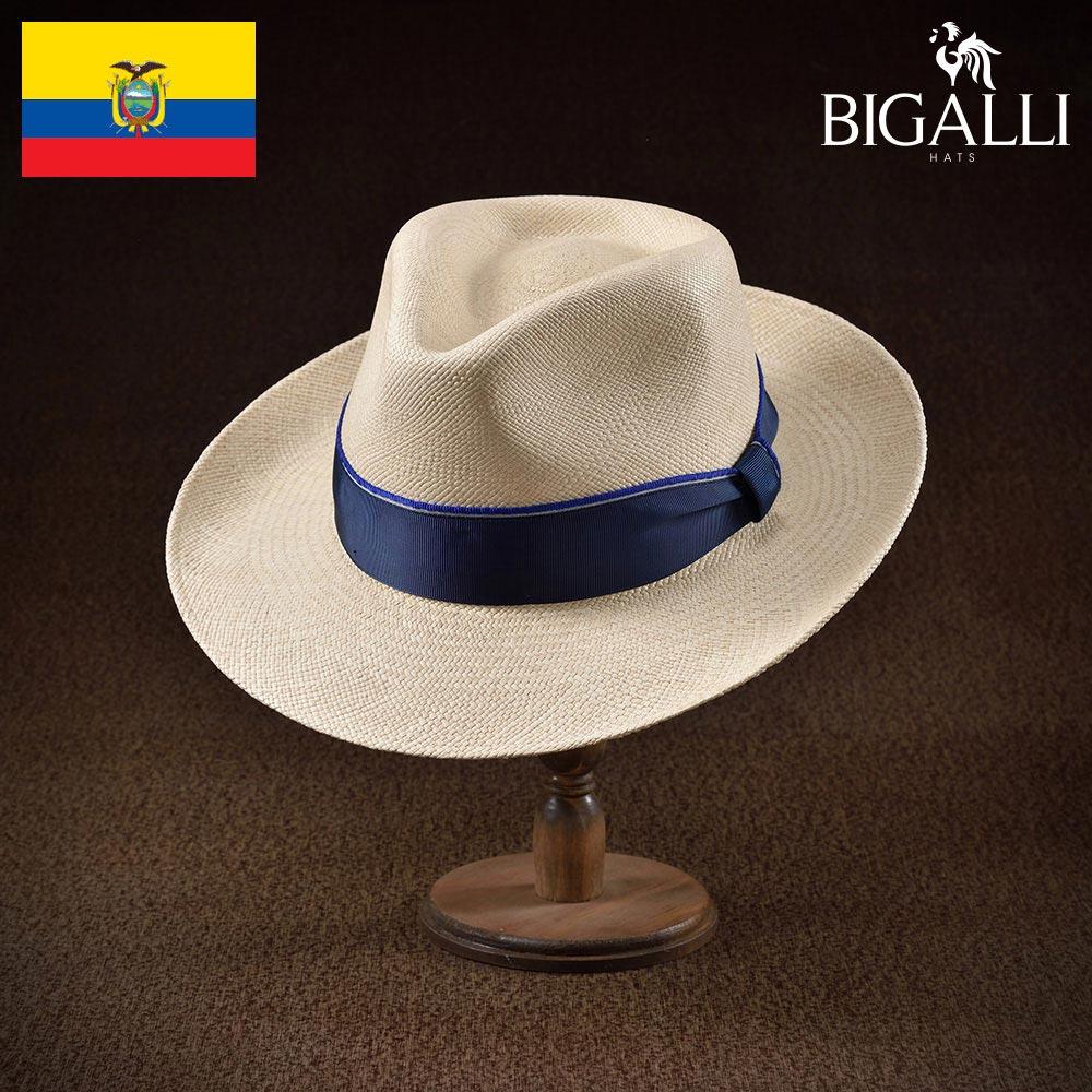 パナマハット メンズ レディース パナマ帽 中折れ帽子 フェドラハット 帽子 紳士 春夏 大きいサイズ 紳士帽 メンズ帽子 ギフト プレゼント 送料無料 あす楽 S M L XL エクアドル製 BIGALLI [コパカバーナ]