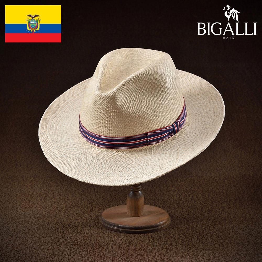 ハット メンズ レディース パナマハット パナマ帽 中折れ帽子 フェドラ 帽子 紳士 春 夏 春夏 大きいサイズ S M L XL エクアドル製 BIGALLI [ラジャド] 紳士帽 メンズ帽子 ギフト プレゼント あす楽 送料無料