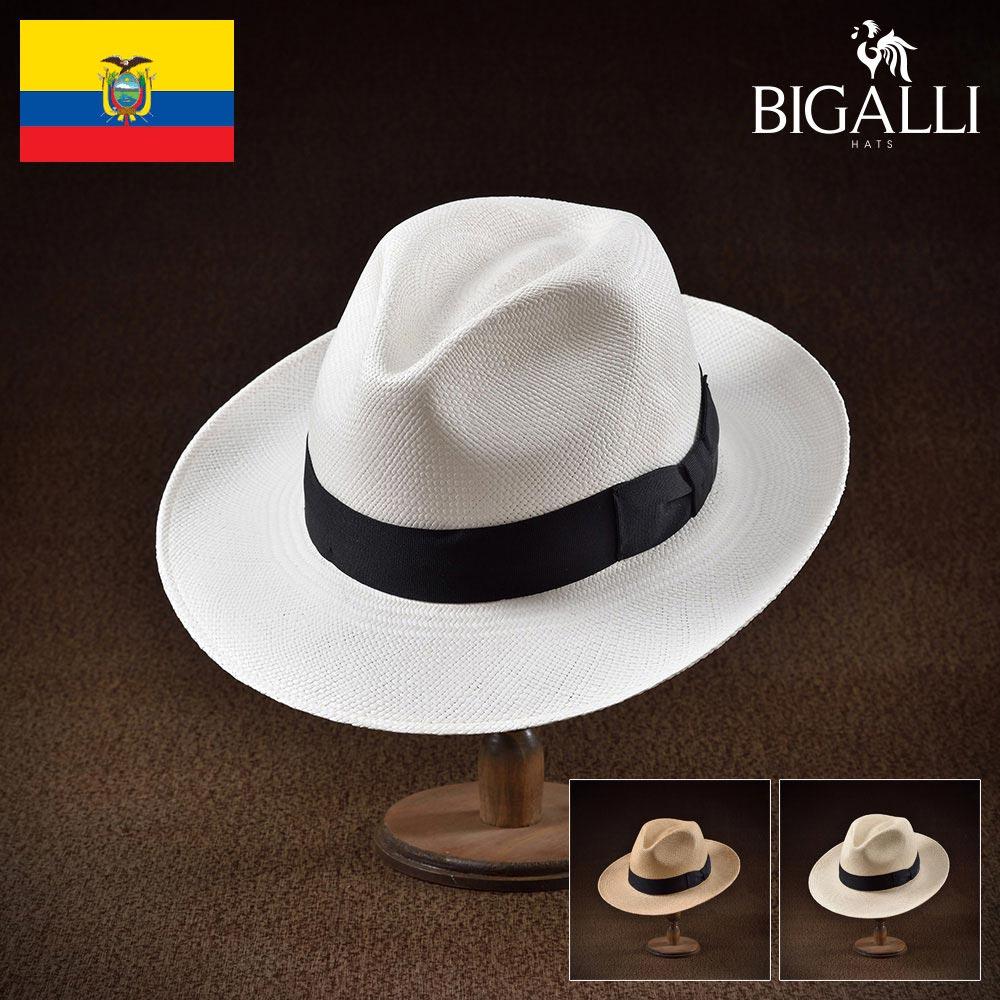 パナマハット パナマ帽 BIGALLI ビガリ PAPEL パペール メンズ レディース 男性 女性 帽子 ハット エクアドル製 本パナマ草 トキヤ草 手編み ストローハット 麦わら帽子 大きいサイズ 父の日 ギフト あす楽
