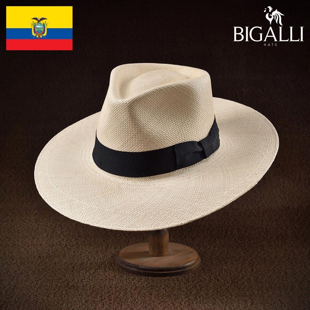 ハット メンズ レディース パナマハット パナマ帽 中折れ帽子 フェドラ 帽子 紳士 春 夏 春夏 大きいサイズ S M L XL エクアドル製 BIGALLI [プラード] 紳士帽 メンズ帽子 ギフト プレゼント あす楽 送料無料
