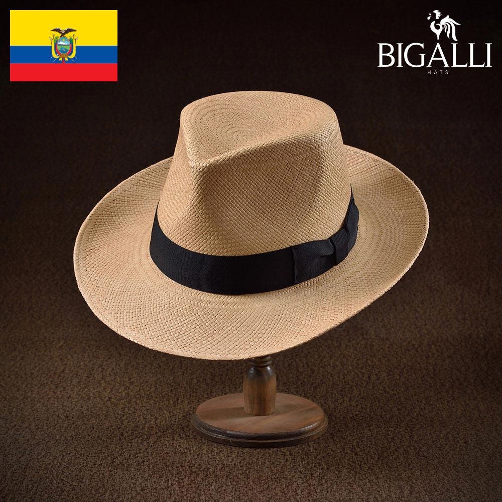メンズ パナマハット パナマ帽 中折れ帽子 フェドラハット 帽子 レディース 紳士 春 夏 春夏 大きいサイズ S M L XL エクアドル製 BIGALLI [デンゼル] 紳士帽 メンズ帽子 ギフト プレゼント あす楽 送料無料