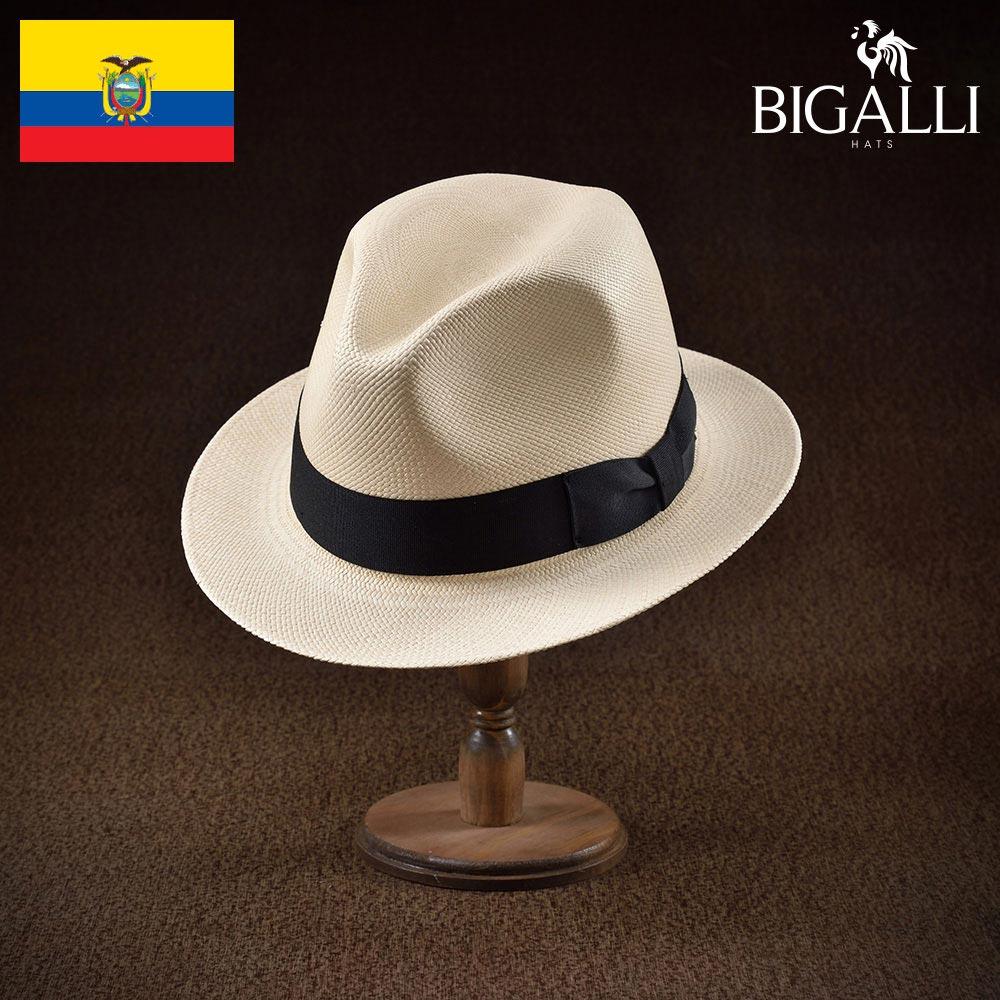 パナマハット メンズ レディース パナマ帽 中折れ帽子 フェドラハット 帽子 紳士 春 夏 春夏 大きいサイズ S M L XL エクアドル製 BIGALLI [シウダー] 紳士帽 メンズ帽子 ギフト プレゼント あす楽 送料無料