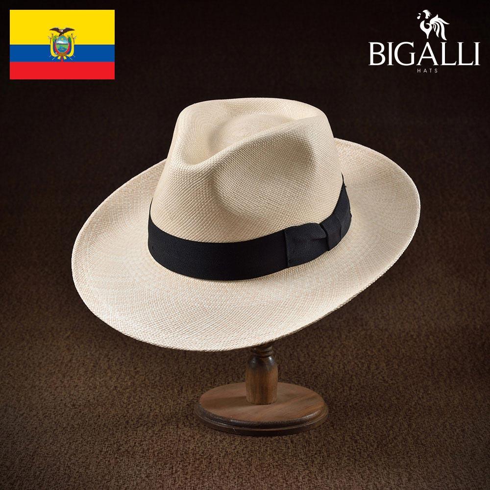 メンズ パナマハット パナマ帽 中折れ帽子 フェドラハット 帽子 レディース 紳士 春 夏 春夏 大きいサイズ S M L XL エクアドル製 BIGALLI [ピスタ] 紳士帽 メンズ帽子 ギフト プレゼント あす楽 送料無料